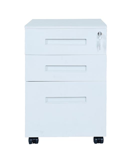 耐用材料钢制金属文件柜带轮移动底座金属文件柜四轮