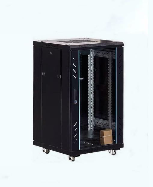 2M黑色SPCC机架式服务器网络机柜开关柜